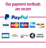 Our payments methods are secure