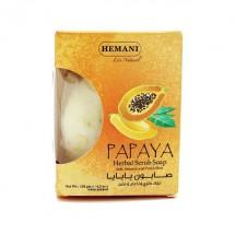 Natural Exfoliating Soap with Papaya Seeds - Hemani