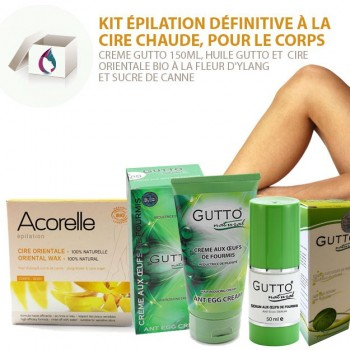 SET 3 Permanent Body Hair Removal, Oriental Wax