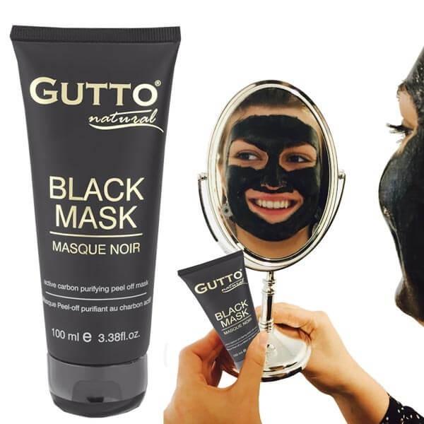 100% authentifié en vente en ligne classique Masque Noir peel-off, anti Point Noir, au charbon actif et à l'arbutine  100ml - GuTTo
