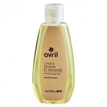 Huile de bain et de massage bio - Avril