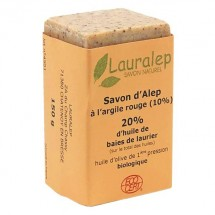 Organic red clay Aleppo soap 150 g - Lauralep