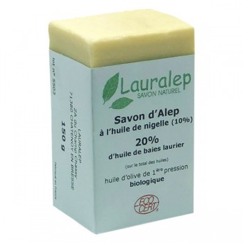 Organic Aleppo soap with nigella 150g - Lauralep