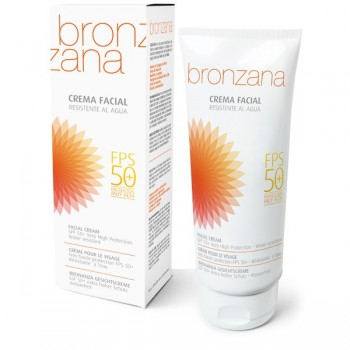 UV Protection Facial Cream SPF 50, Tan Activator - Bronzana