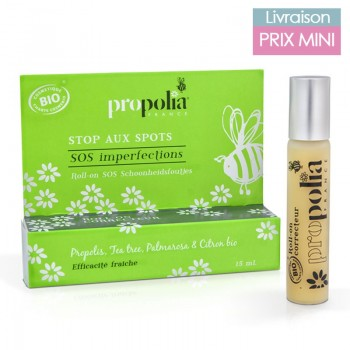 "Roll-on SOS imperfections bio ""Stop aux spots"" - Propolis, tea tree - Propolia"