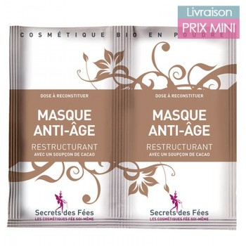 Anti-Aging Mask with Hyaluronic Acid and Organic Cocoa - Secrets des Fées