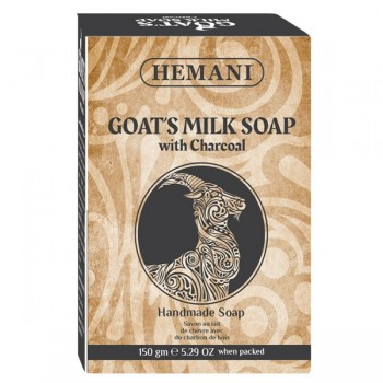 Soap with Goat Milk and Vegetable Charcoal - Hemani