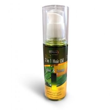 Huile duo: Huile d'aloe vera et huile de citron pour cheveux - Hemani