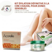 SET 1 for Sensitive Parts Permanent Body Hair Removal with Stripless Royal Wax
