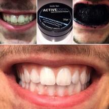 Poudre noire de charbon actif pour le blanchiment des dents ActiveCoco, Smile Spa