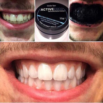 Teeth Whitening Coconut Activated Carbon Black Powder - Smile Spa