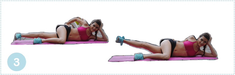 Fitness exercise for legs and buttocks: leg lift
